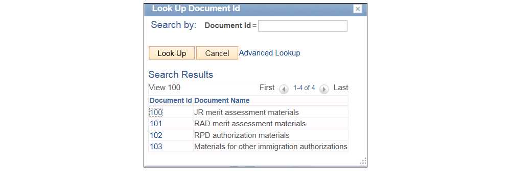 "Screenshot of the ""Look-Up ID"" window."